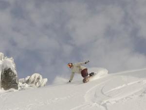 Snowboarding in Thredbo