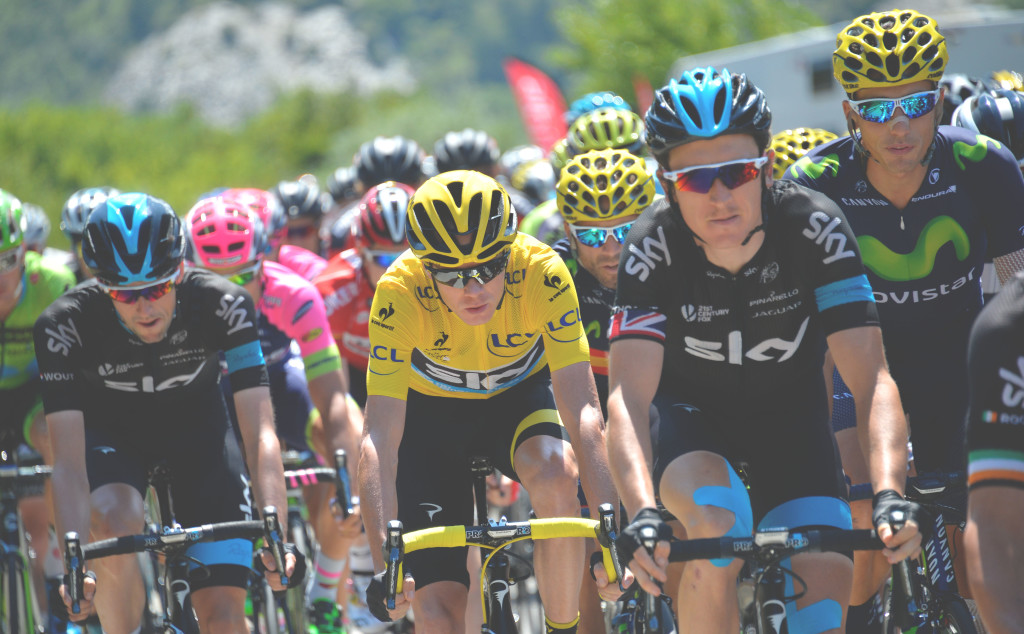 Chris Froome in the Tour de France 2015
