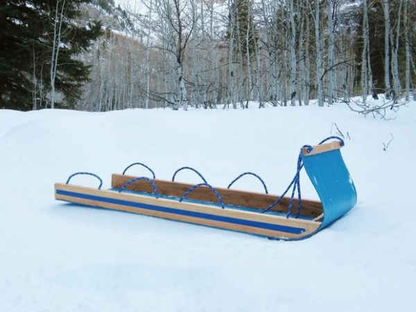 Homemade toboggan