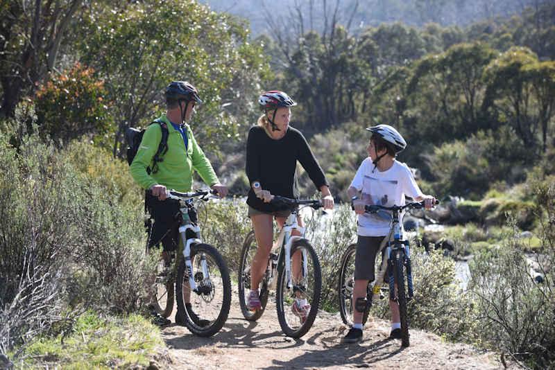 Family Mountai Bike Riding in Thredbo