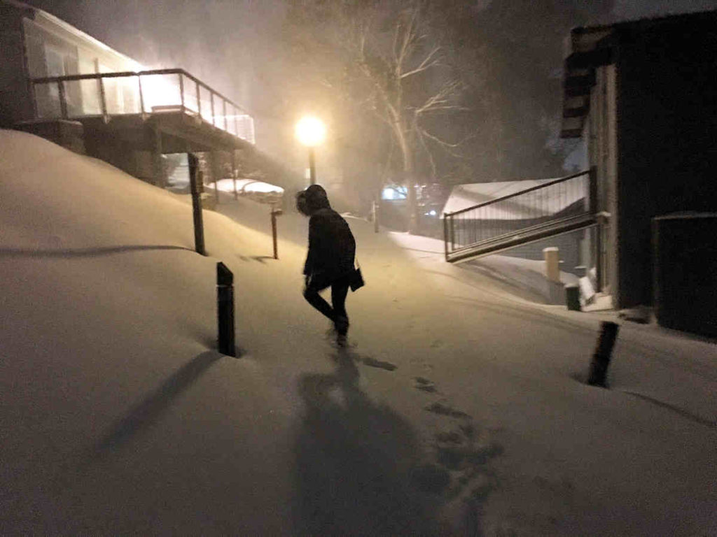 The kind of snow storm we dream about in Thredbo