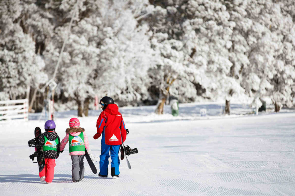 KIds and Snow go hand in hand