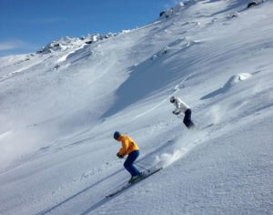 Skiing to Dead Horse Gap Near Thredbo Village