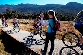 Riding the Thredbo Valley Trail