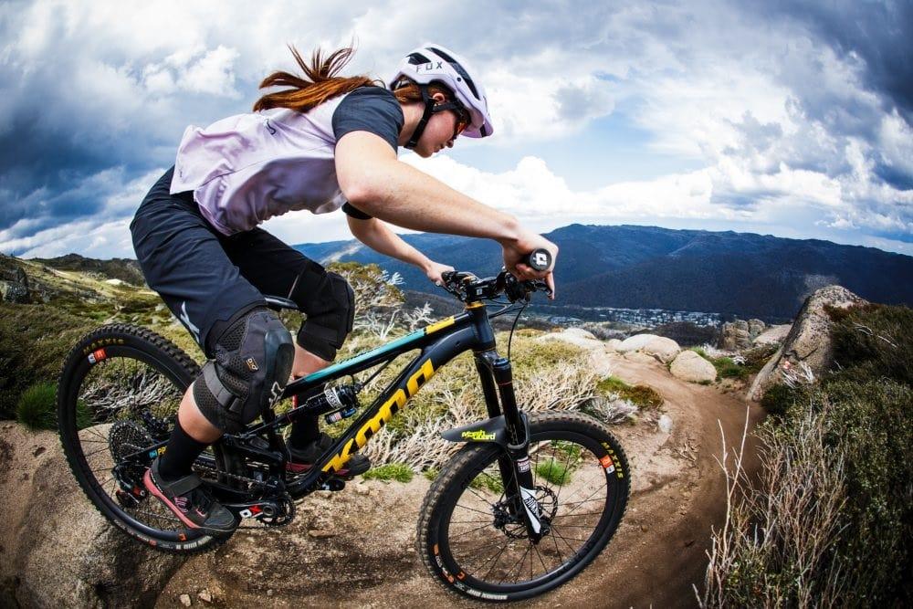 Thredbo Ambassador Teegan Molloy shredding the mountain bike park-min