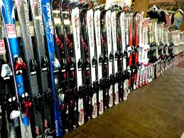 Wall to wall skis, boards, boots and clothing.