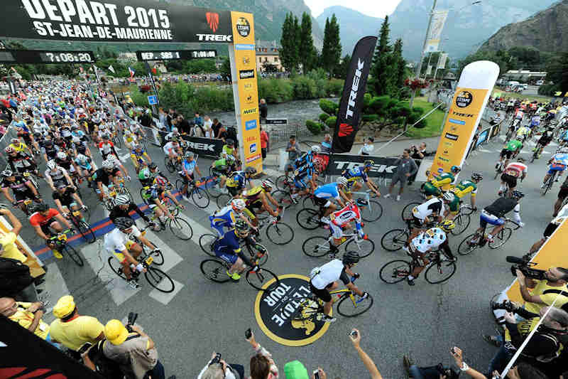 The Start of the French L'Etape Event