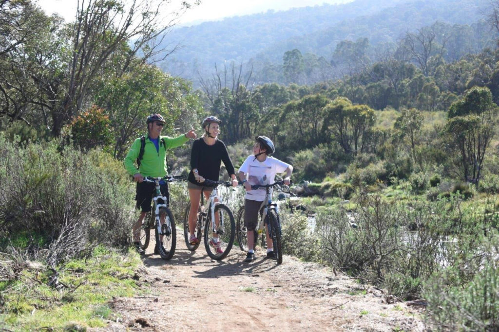 Thredbo valley bikers