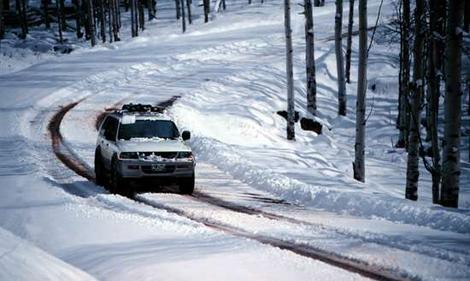 Snow driving near Thredbo accommodation