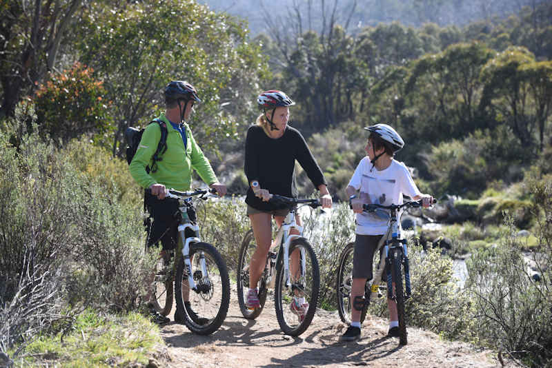 Family Mountai Bike Riding in Thredbo