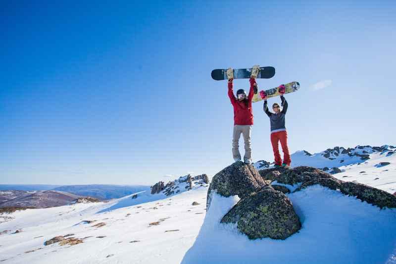 Snow Boarders salute
