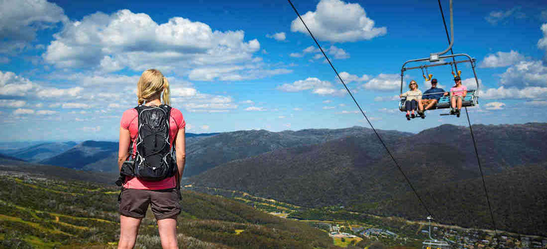 Ride the Kosciuszko Express Chairlift