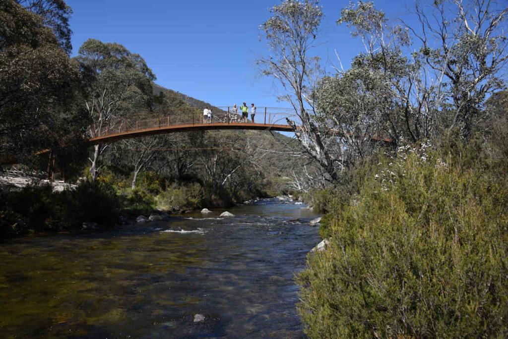 One of 5 Bridges over the Thredbo River
